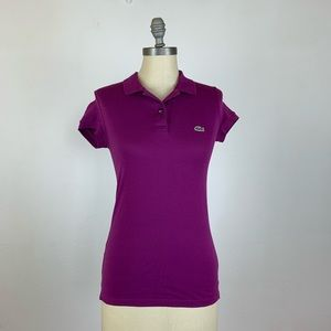 Lacoste Women's Purple Polo